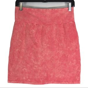 Talula Acid Wash Pink Bodycon Mini Skirt